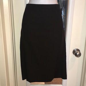 BCBGMaxazria Black lining wool pencil skirt.sz6